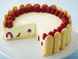 Torta de limón y frambuesa