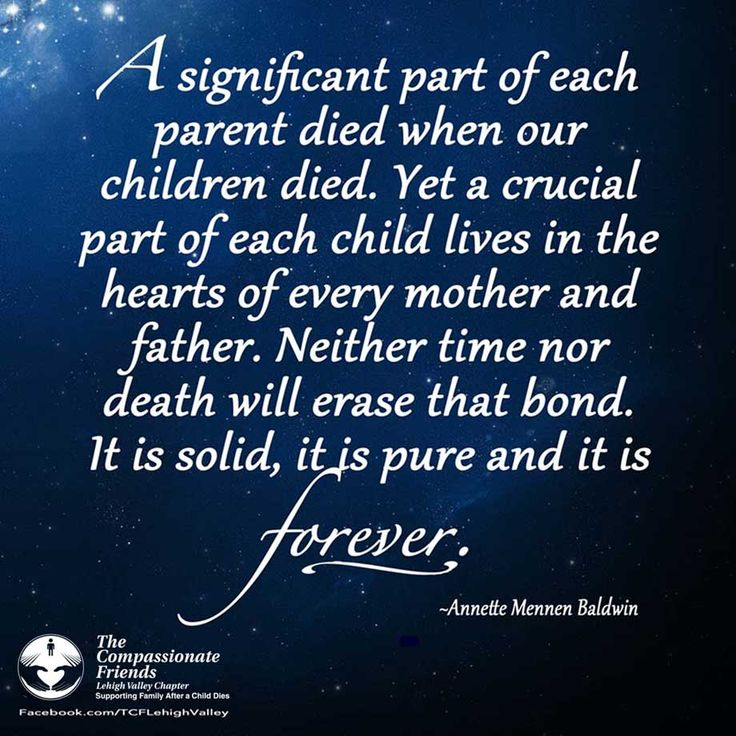 Wonderful Although Physicaly Separated By Death Our Children Continue To Live On In  Our Hearts. From