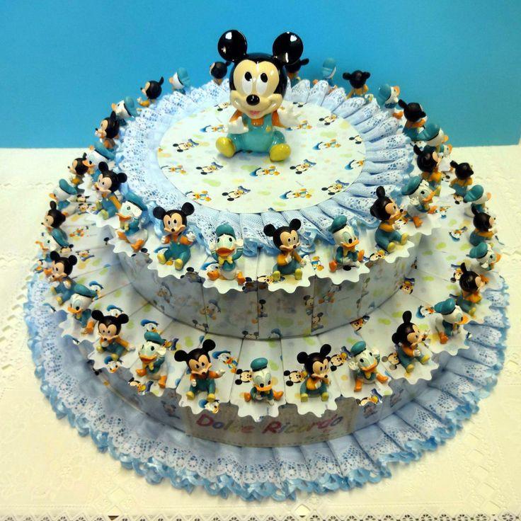 """Torta Bomboniera con Topolino e Paperino Disney. Torte Bomboniere fornite da """"Ore Liete - La Bomboniera Italiana"""""""