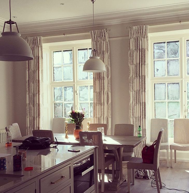 By Westcot House | Oxfordshire kitchen | Interior designer | featuring Walcot House poles & finials