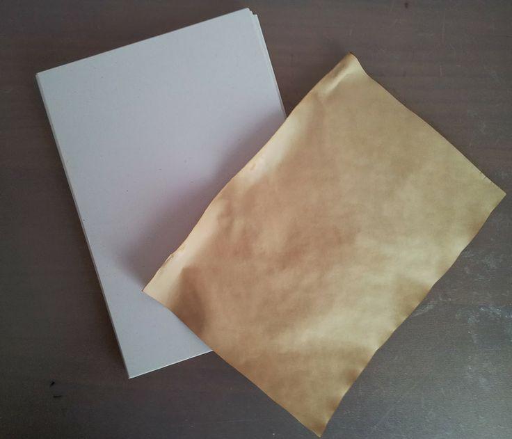 Envejecer papel con té #diy #scrapbooking #laboresenlaluna #papel #té #envejecerpapel #manualidades