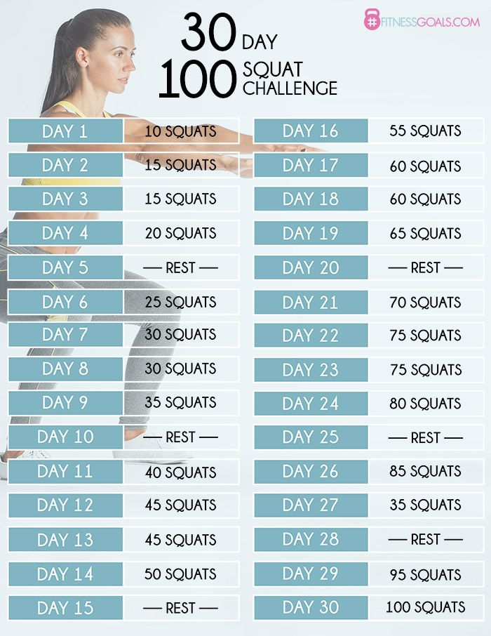 30 Day Squat Challenge - See Before  After Results  30 -9057