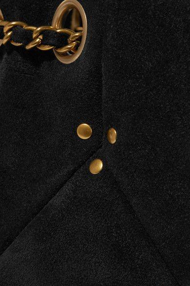 Jérôme Dreyfuss - Popeye Medium Suede Bucket Bag - Black - one size