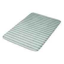 """""""Traditional Designs""""  Celadon-Pillow Tick Green Bathroom Mat"""