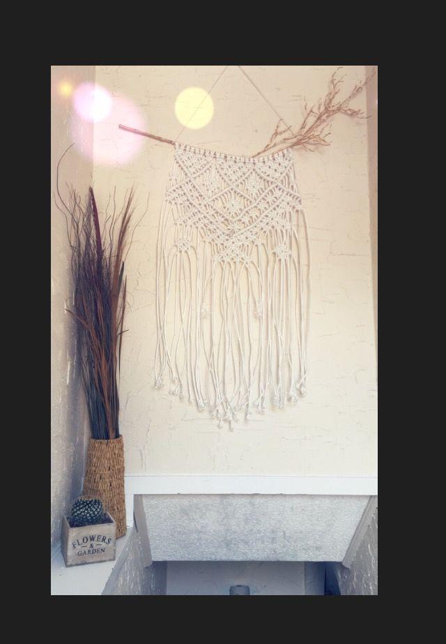 My first macrame wall hanging;) #macrame #macramewallhanging #diy #hippie #bohemian #bohochic