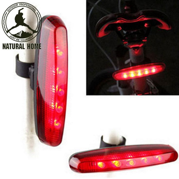 [Visit to Buy] NaturalHome Power 5 LED 7 Mode Cycling Bicycle Bike Caution Safety Rear Tail Lamp Light Ciclismo Accesorios Bicicleta #Advertisement