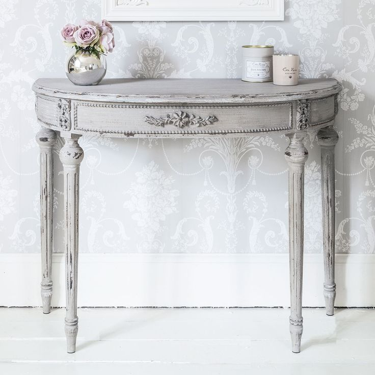 Grey Half Moon Console Table  |  Console Tables  |  Tables  |  French Bedroom Company
