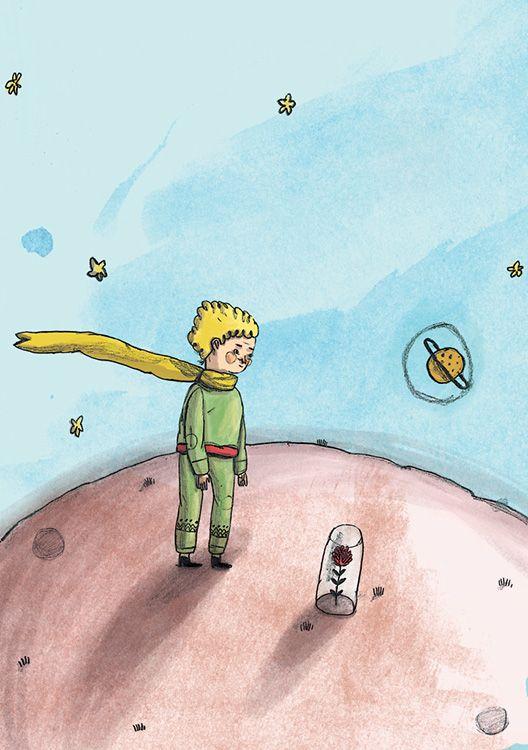 Ersa Mobilya Küçük Prens Temalı 2015 Takviminden İlüstratör Mert Tügen #littleprens #ersamobilya #illüstrasyon #illustration #art #design