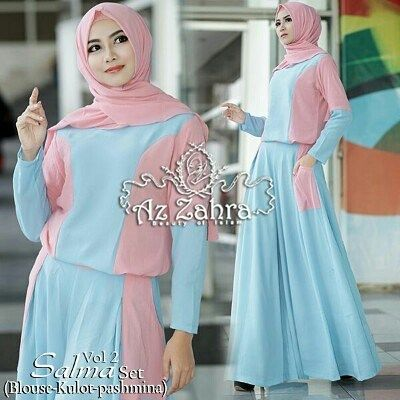 Salma set vol 2 by Az Zahra Collection 1set blouse  celana kulot  pashmina  Bahan ceruti buble pop kombinasi 2warna  All size fit to XL resleting belakang karet pinggang belakang.  LD blouse100cm Panjang kulot 100cm.  Retail: 345.000 Reseller 325.000 est. ready 16 Des  Dp 50% = Booking  Line @kni7746k  Wa 62896 7813 6777  #pin #salmavol2byazzahra #hijaboftheday #ottdhijabbranded #otthijab #muslimahsyariset #setelankulotmuslimbranded #setelankulotbrandedoriginalfreepashmina…