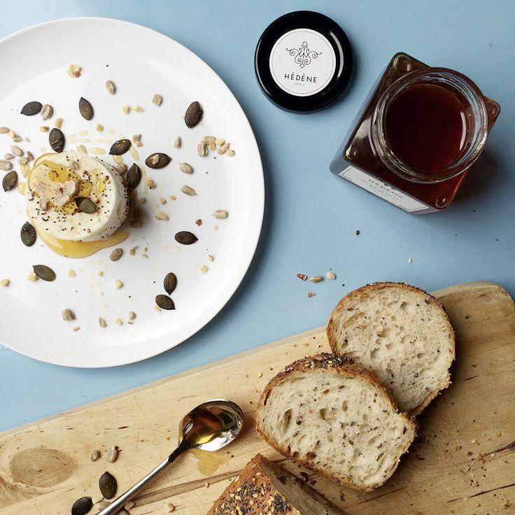 Fromage de chèvre et miel de sapin Hédène