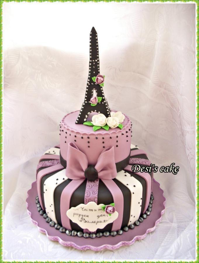 Eiffel+Towers+-+Cake+by+Desislava