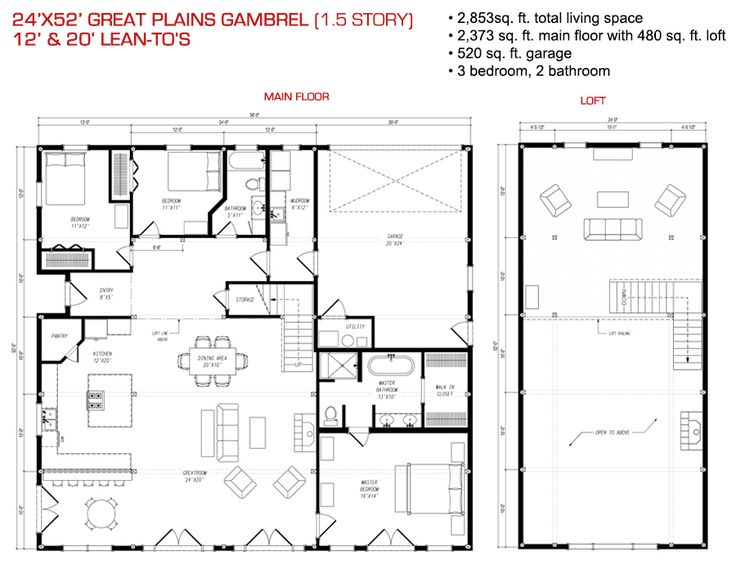 3209 best pole barn designs images on pinterest pole for Gambrel barn house floor plans