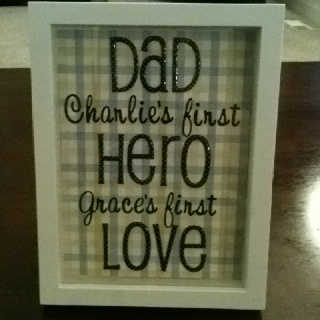 Ok, I actually teared up on this one.  So sweet.: First Father Day, Christmas Gift Ideas, Father'S Day Gifts, Christmas Gifts Ideas, Cute Ideas, Birthday Father, Father Day Gifts, Fathers Day Gifts, Fathers Day Ideas