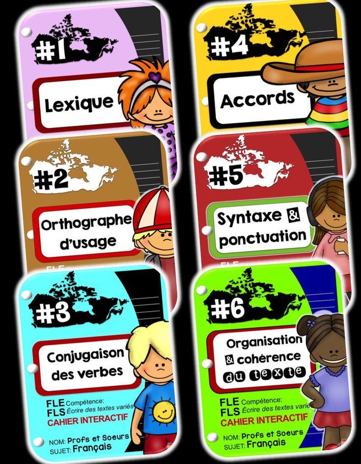 6 cahiers interactifs pour le programme complet de français