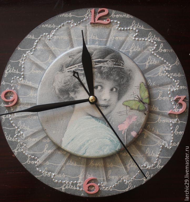 """Купить Настенные часы """"Винтаж"""" - часы настенные, часы винтаж, настенные часы подарок"""