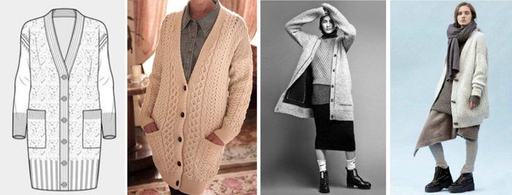 Long cardigan knitwear