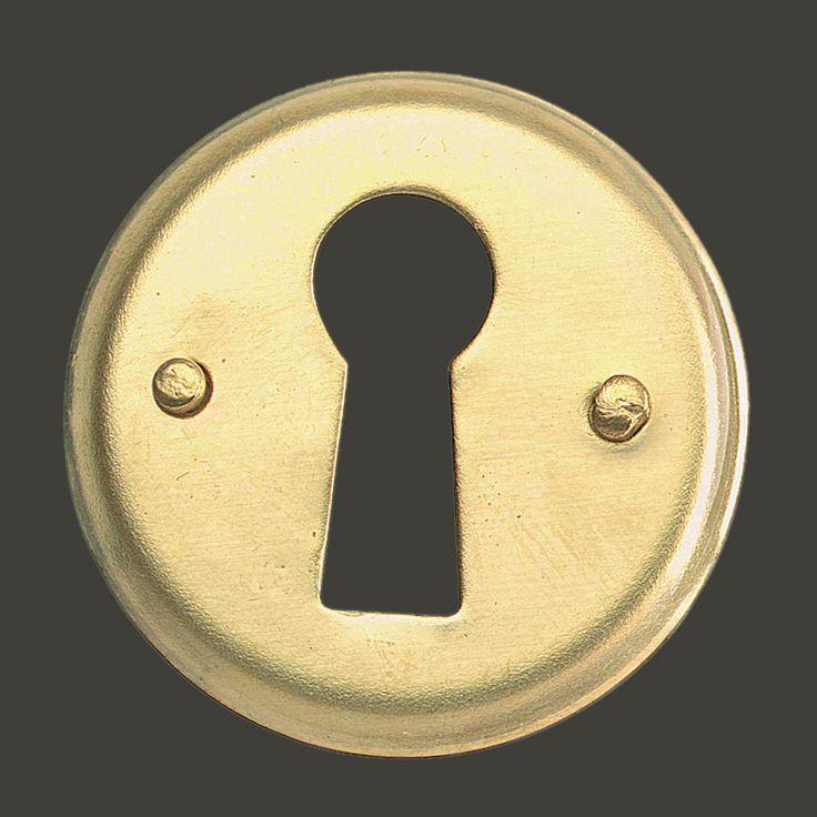 "Escutcheon Solid Brass Keyhole Cover 1""D"