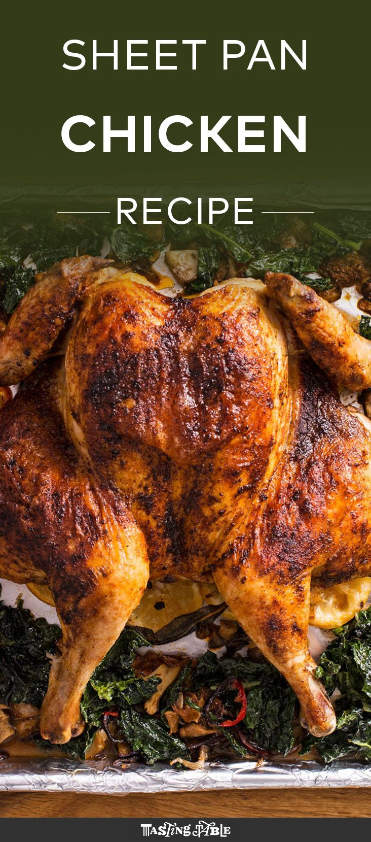 Watch and learn how to spatchcock a chicken, then roast it with vegetables all on one sheet pan.