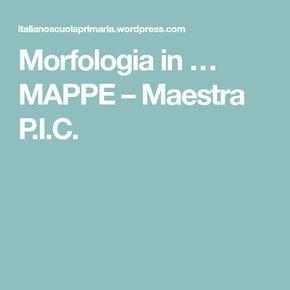 Morfologia in … MAPPE – Maestra P.I.C.
