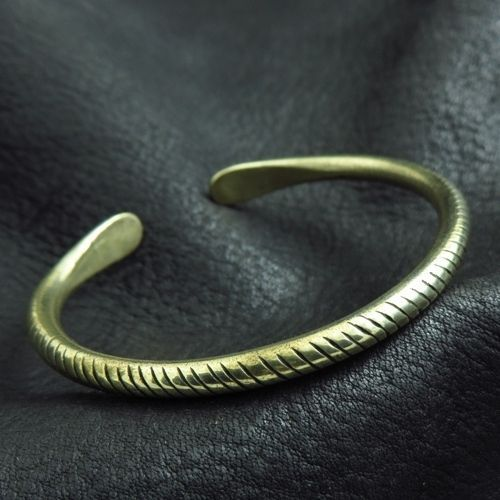Bronze bracelet from Ancient Rome. Reenactment. Antique. SCA.