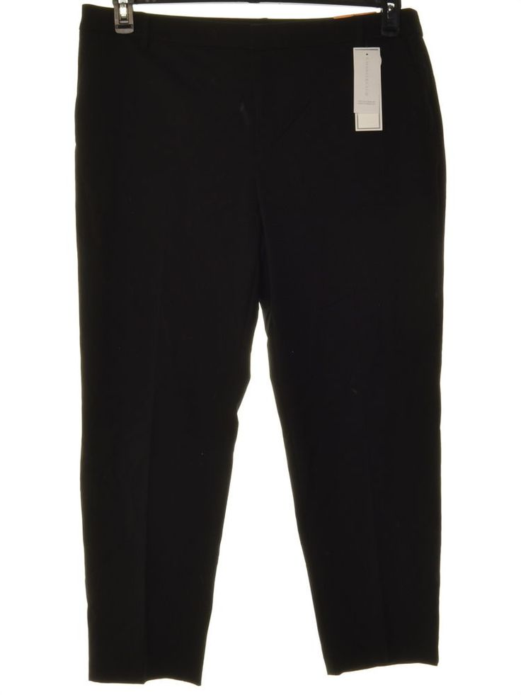 Charter Club 4835 Size 16 Womens NEW Black Solid Ankle Pants Slim-Leg $69 #CharterClub #Ankle