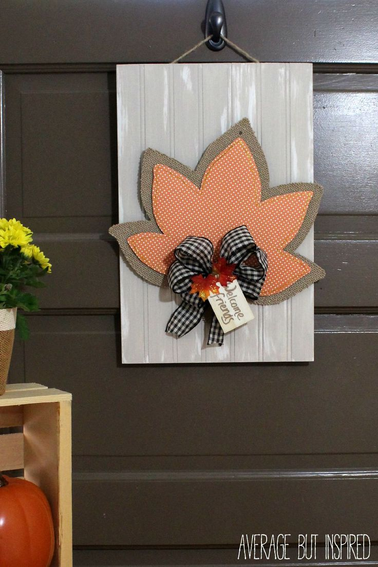 Turn a dollar store fall decoration into a totally cute piece of decor for your home! A few supplies and fifteen minutes are all you need!