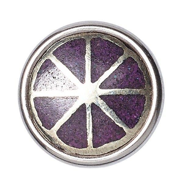 Noosa Amsterdam Petite Chunk Elements spirit purple silver white metal powderstone