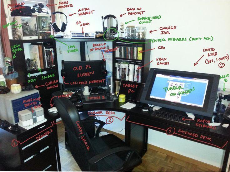New Desk Setup By Commander 13 Quot Cintiq 22hd Quot Desk