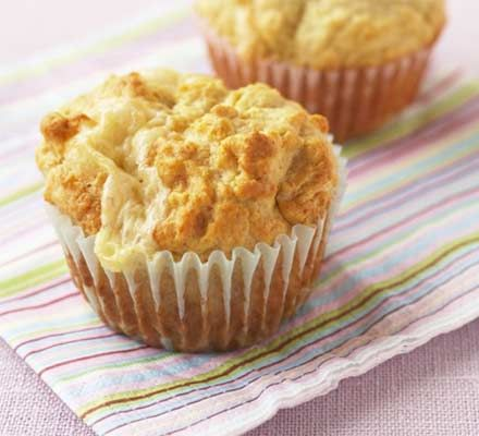 Welsh rarebit muffins. Get the kids to help make these yummy muffins, perfect for lunchboxes.