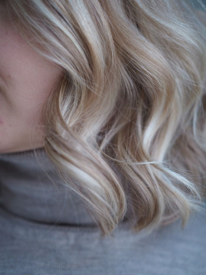 Blond hair with latte highlights