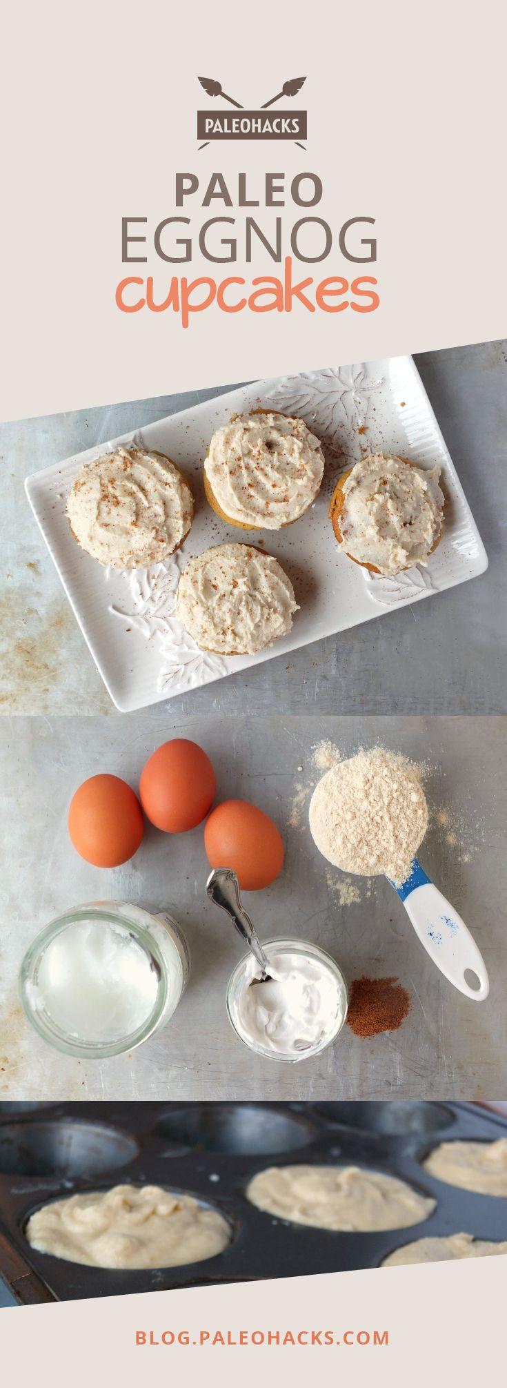 Paleo Eggnog Cupcakes  #justeatrealfood #paleohacks