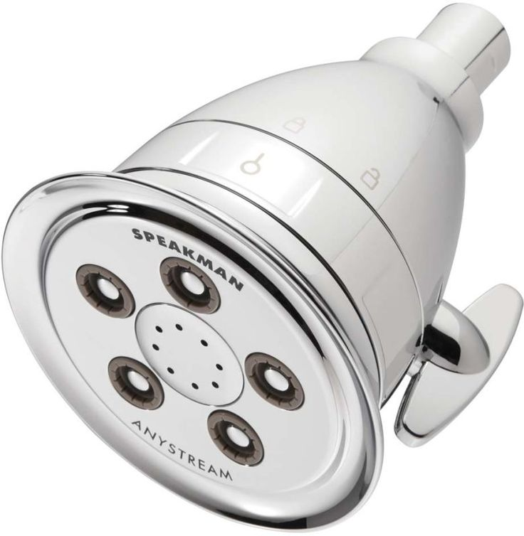 Speakman S-2005-HBF Hotel 2.5 GPM Pure Multi-Function Shower Head with Filter Ca Polished Chrome Showers Shower Heads Multi Function