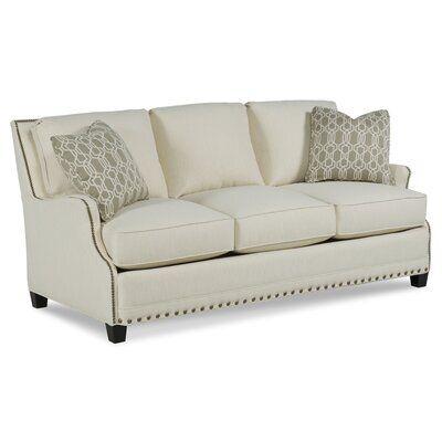 Fairfield Chair Dexter Sofa Body Fabric: 3155 Linen, Leg Color: Espresso