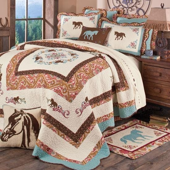 Western Romance Quilted Bedding Collection