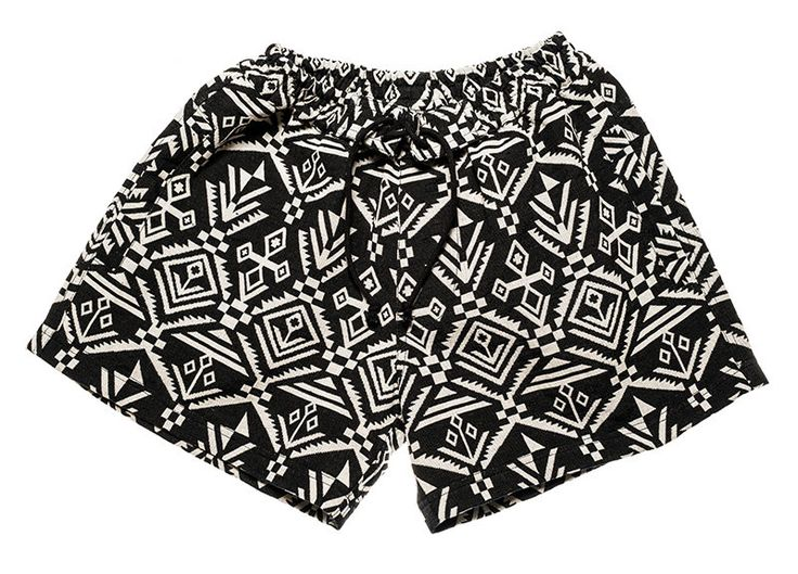 Surfer / bohemian shorts for Women in black and white inca / graphic colors by Aviimade on Etsy