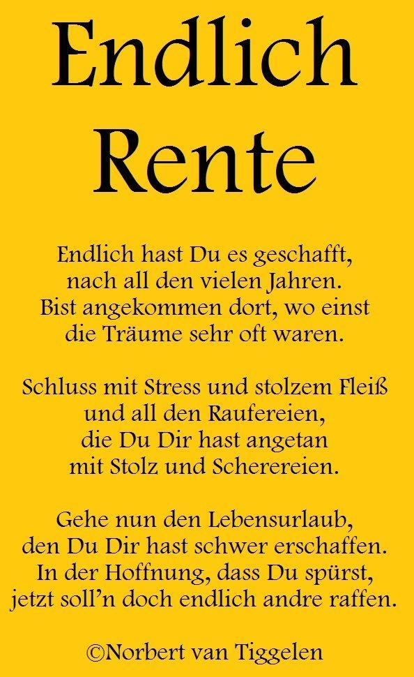 Sprüche Für Renteneintritt Schöne Gedichte Zum Ruhestand
