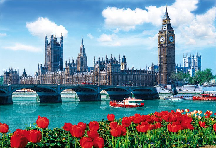 Parlament a Westminster Bridge, Londýn, Anglie
