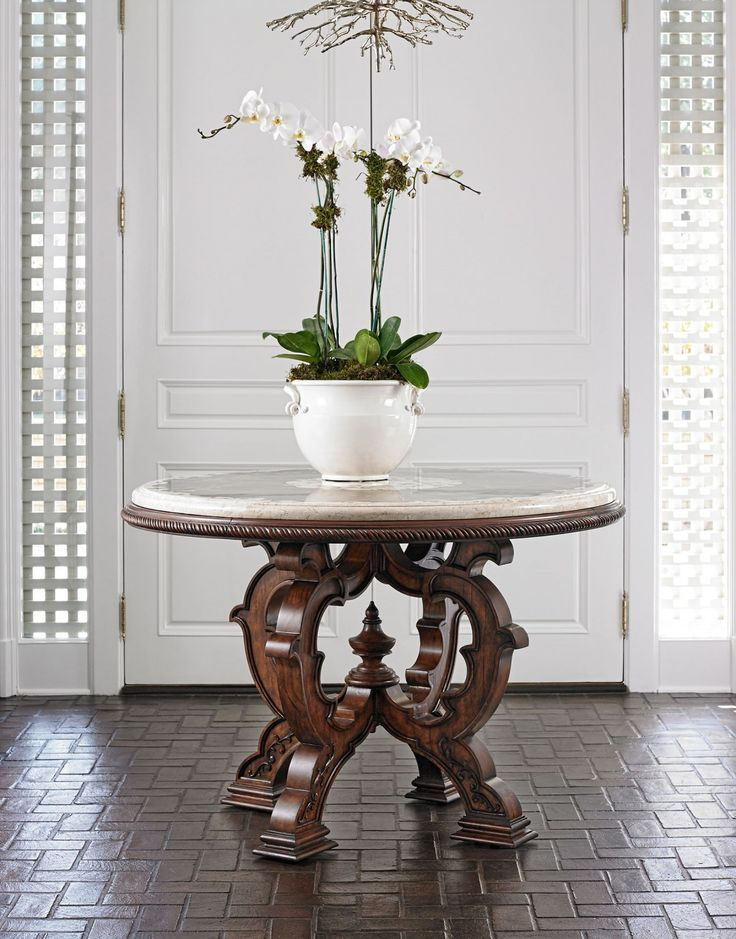 Superior Timeless And Gorgeous Center Mosaic Table Featuring A Stone Top Crafted  From Ivory Rose, Black