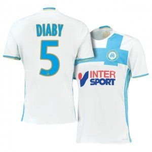 Marseille Home 16-17 Season White #5 DIABY Soccer Jersey [I110]