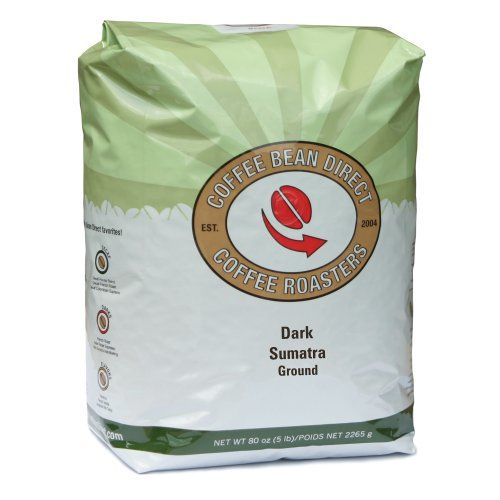 Coffee Bean Direct Dark Sumatra Ground Coffee, 5-Pound Bag - http://www.freeshippingcoffee.com/brands/coffee-bean-direct/coffee-bean-direct-dark-sumatra-ground-coffee-5-pound-bag-3/ - #CoffeeBeanDirect