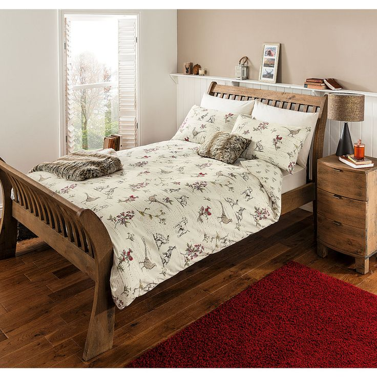 Christmas Dog and Pheasant Duvet Set in 3 sizes. Christmas, House-warming Gift. in Home, Furniture & DIY, Bedding, Bed Linens & Sets   eBay