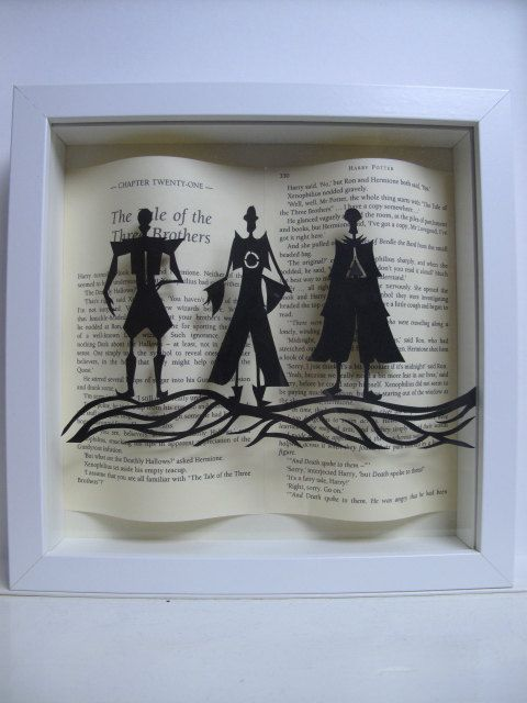 The Three Brothers - Harry Potter framed art - paper cutting - Harry Potter gift - book lovers gift