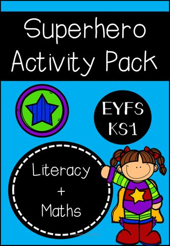 Superhero Activity Pack (literacy and maths based for EYFS/KS1)