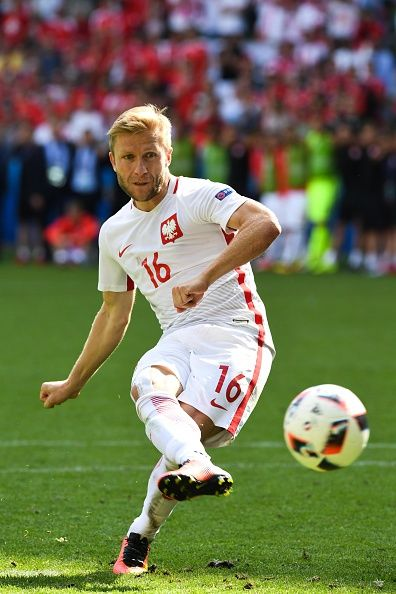 #EURO2016 Jakub BLASZCZYKOWSKI of Poland during the European Championship match Round of 16 between Switzerland and Poland at Stade GeoffroyGuichard on June 25...