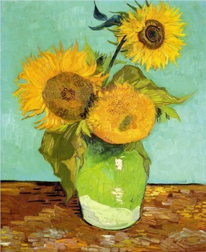 Sunflowers, 1888.  Vincent van Gogh