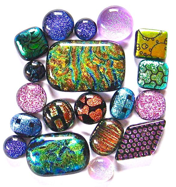 How to Make Fused Dichroic Glass Cabochons: 4 Steps - wikihow tutorial