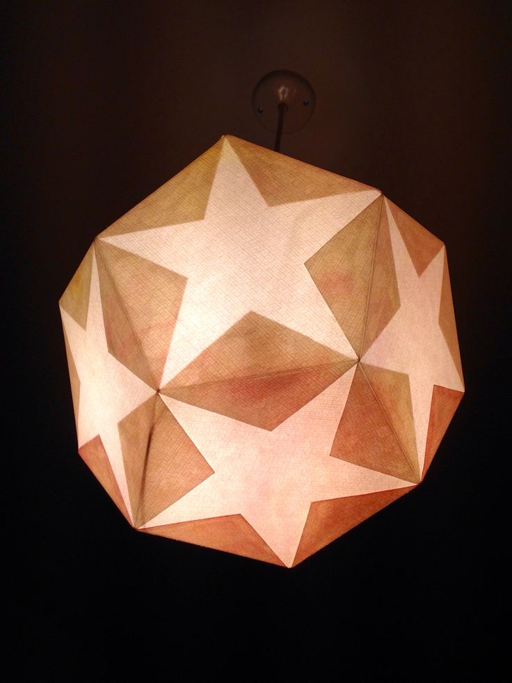 Paper Star lamp - the Waldorf way:)