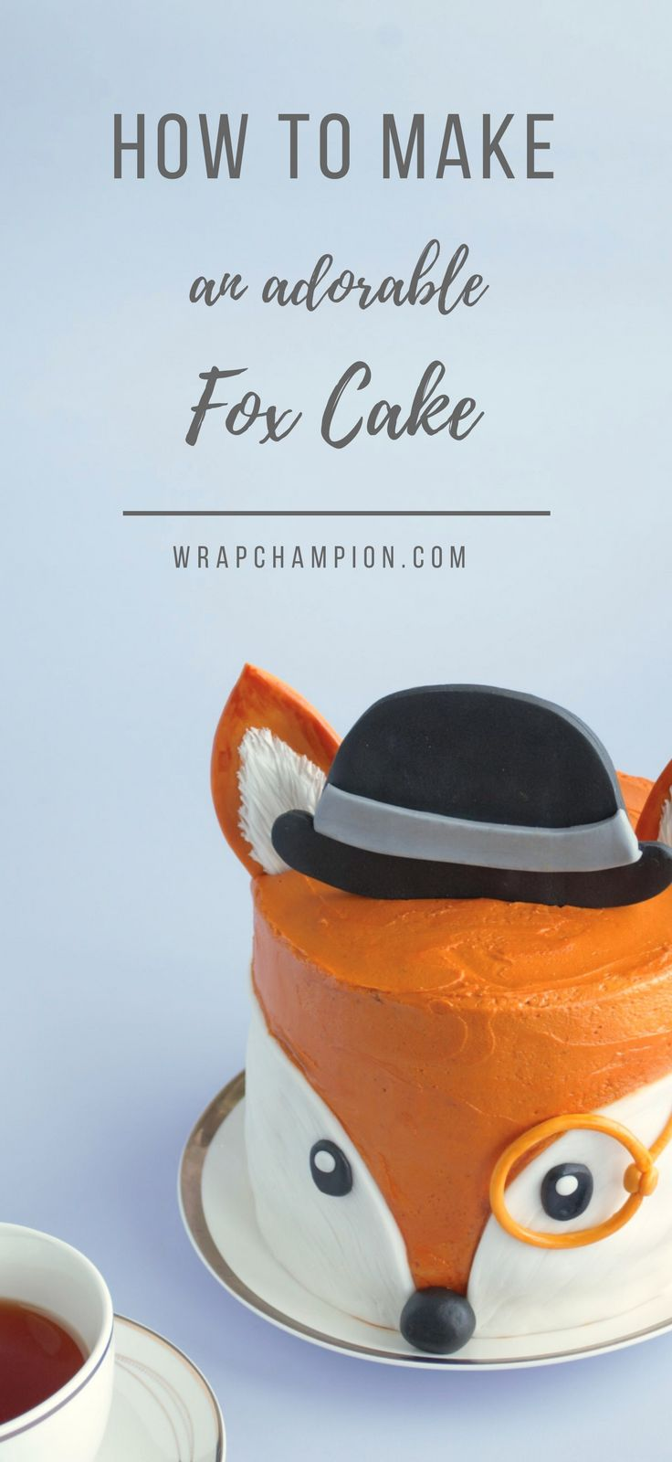 How to make an adorable fox cake with buttercream and fondant. Chocolate cake inside and handy video clips to help with the decorating