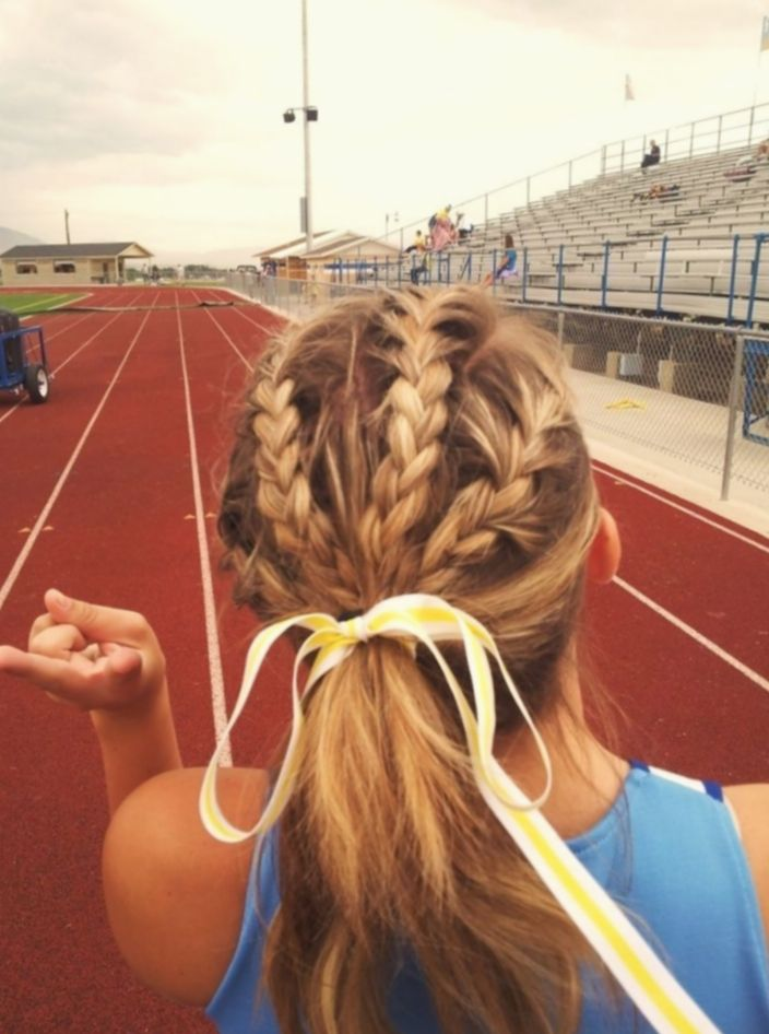 Hairstyles Braided Videos Softball Haircolor Longhair Behindthechair In 2020 Sports Hairstyles Volleyball Hairstyles Ball Hairstyles