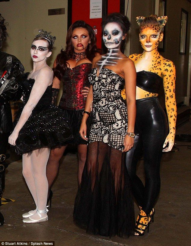 Little Mix rock sexy and scary costumes for Celeb Juice Halloween special http://dailym.ai/1PVRTiC